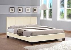 Кровать Nairobi  160x200 PU   Pearl/white
